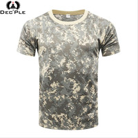 New Summer Military Camouflage Men T Shirt Casual Tactical Army Combat O Neck T Shirt Men