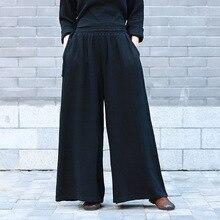 décontracté pantalon noir larges