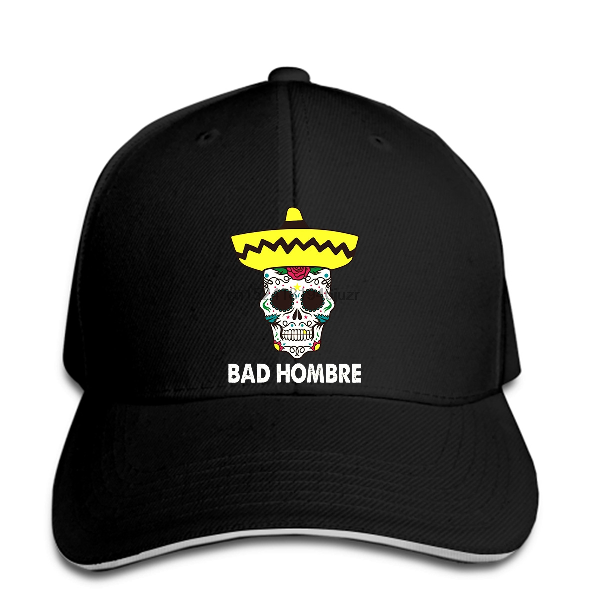 d12505561227a hip hop Baseball caps Bad Hombre Mexican Sugar Skull Men   High Quality  Custom Printed hat Hipster sMen Funny snapback-in Baseball Caps from  Apparel ...
