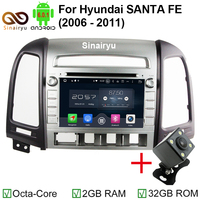 2GB RAM 1024 600 Octa Core Android 6 0 1 Fit Hyundai SANTA FE 2006 2010