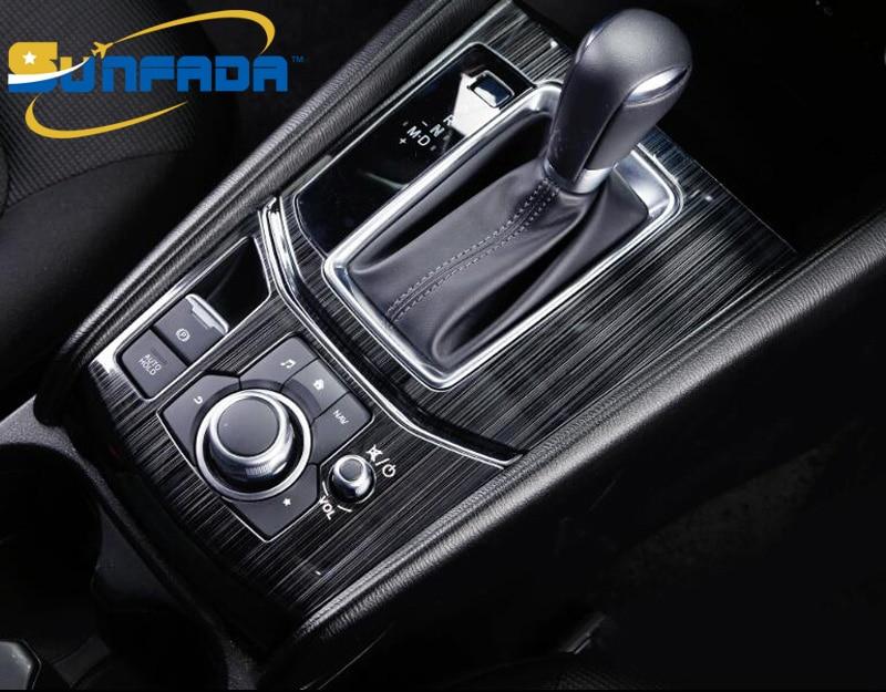 SUNFADA, серебристые/Черные Декоративные автомобильные чехлы из нержавеющей стали для MAZDA CX 5 CX5 2017 2018, автоматическая коробка передач, автостайлинг cx5 stainless steel mazda cx5 stainless steelmazda cx-5 cx5   АлиЭкспресс