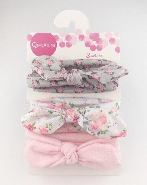 2019 NEW 3pcs/lot baby headband flower print hairwear for newborn baby girl headband for litle girl headbands children
