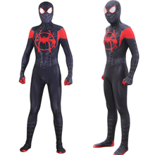 Adult Kids Miles Morales Spider-Man: Into the Spider-Verse Jumpsuit Cosplay Costume Bodysuit Spiderman Zentai Superhero Suit adult spiderman into the spider verse miles morales cosplay costume halloween costume for men suit superhero costume for adult