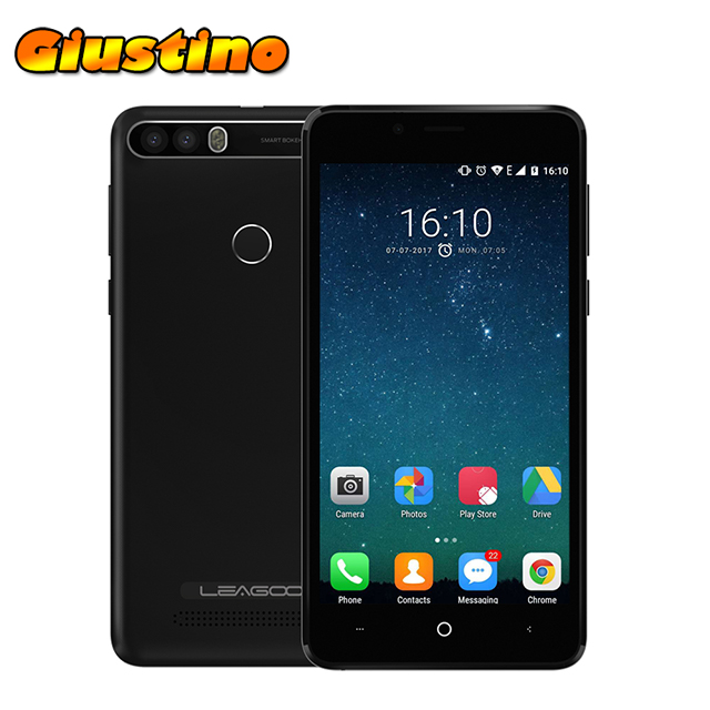 Original Leagoo Kiicaa Power 4000mAh Mobile Phone 5.0'' MT6580A Quad Core Android 7.0 2GB 16GB Dual Back Camera Smartphone