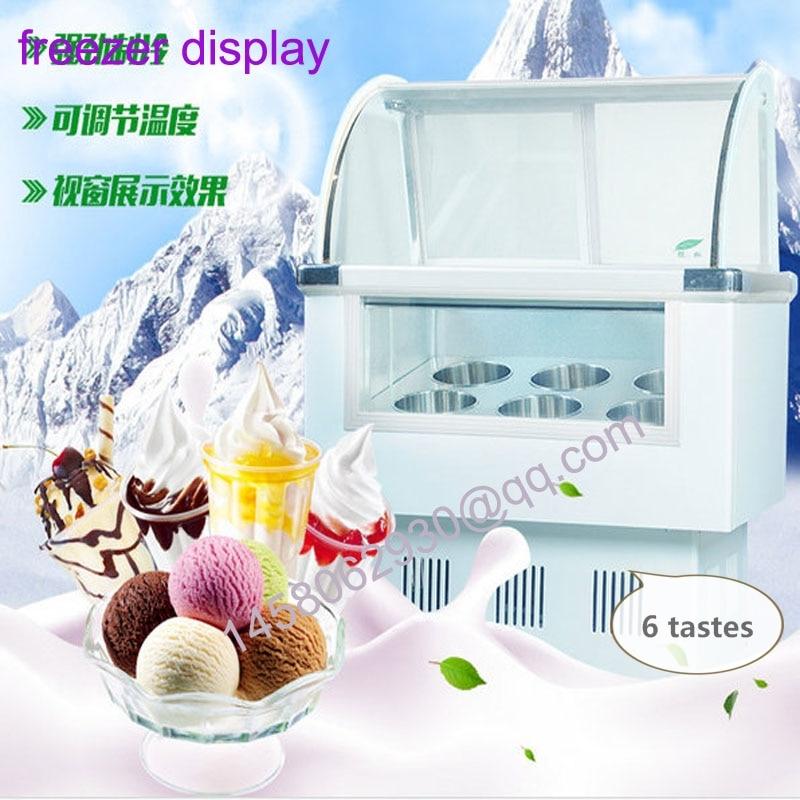 Italian Moblie Mini Gelato Glass Ice Cream Display Cabinet Glass Display Cabinet Ice Cream Glass Display Cabinet