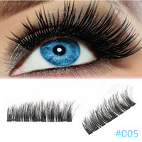 4Pcs Ultra-thin 0.2mm Magnetic Eye Lashes 3D Reusable False Magnet Eyelash Eyelashes Cosmetic Beauty Makeup Beauty Essentials