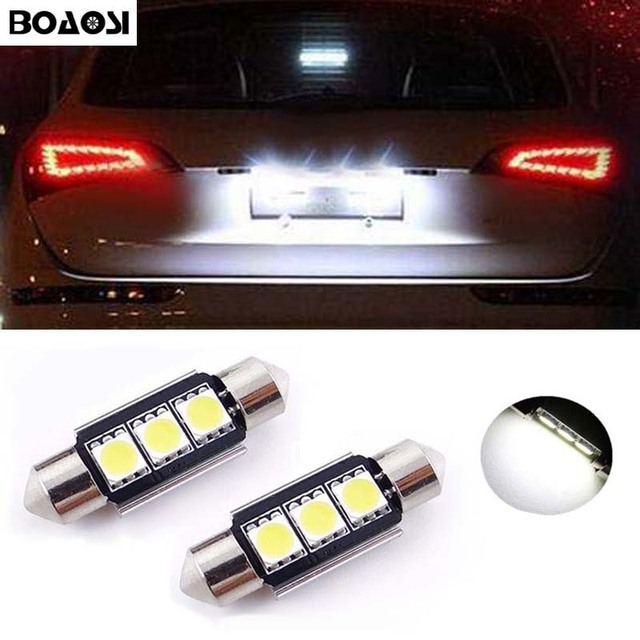 BOAOSI 2x C5W 36mm CANbus Led lampen Voor Samsung Chip 2835 SMD ...