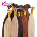 "Brazilian virgin hair i tip hair extensions 0.5g/s 16""-24"" 7a grade i tip human hair extension 100s/lot keratin thick i tip hair"