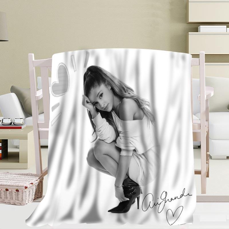 Personnalisé Ariana Grande couverture de voyage maison TV décontracté Relax pour la famille doux moelleux couverture chaude