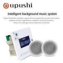 Oupushi домашняя фоновая звуковая система в стене amplifirer Intelligence музыкальный плеер 6 Вт Потолочные динамики 6,5 дюймов с открытым адресом