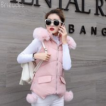 Brieuces New Slim Fashion Autumn And Winter Vest With Hooded Womens Short Jacket Sleeveless Down Cotton Waistcoat