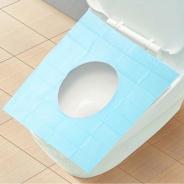 10Pcs/Lot Single Package Disposable Toilet Seat Cover Mat High Quality  Portable Travel Public Toilet