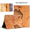 Высокое качество карта мира ИСКУССТВЕННАЯ кожа стенд крышка для iPad pro 9.7, tablet PU Кожаный чехол Для iPad Air 3