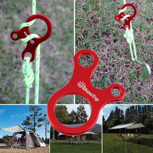 Quick Knot Tent Wind Rope Buckle 3 Hole Antislip Camping Tightening Hook free shipping Well Sell