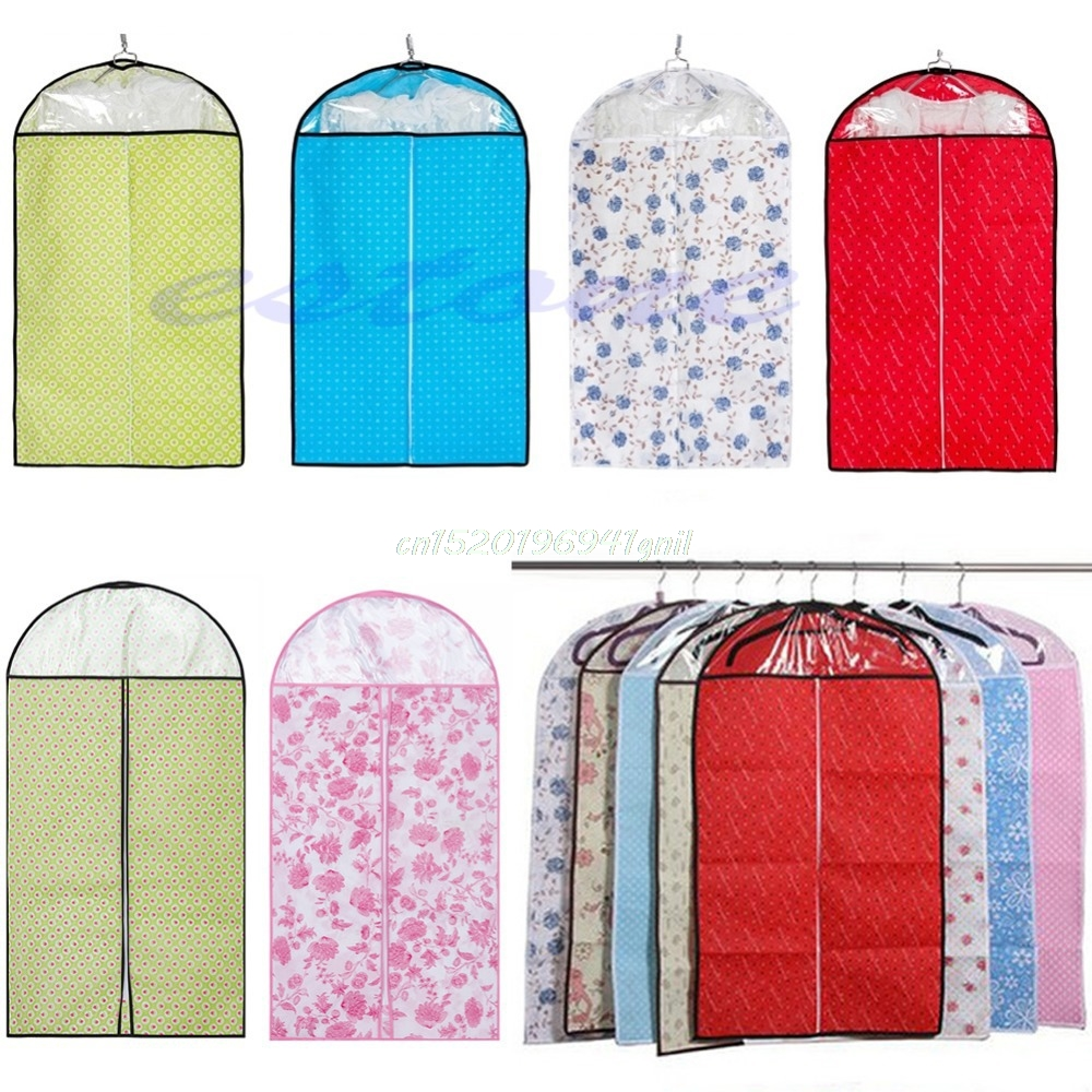 1PC Home Dress Clothes Garment Suit Cover Bags Dustproof Storage Protector#T025#