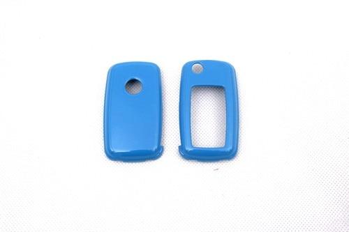 Жесткий Пластик без ключа дистанционного защиты Чехол(глянец синий) для Фольксваген MK6