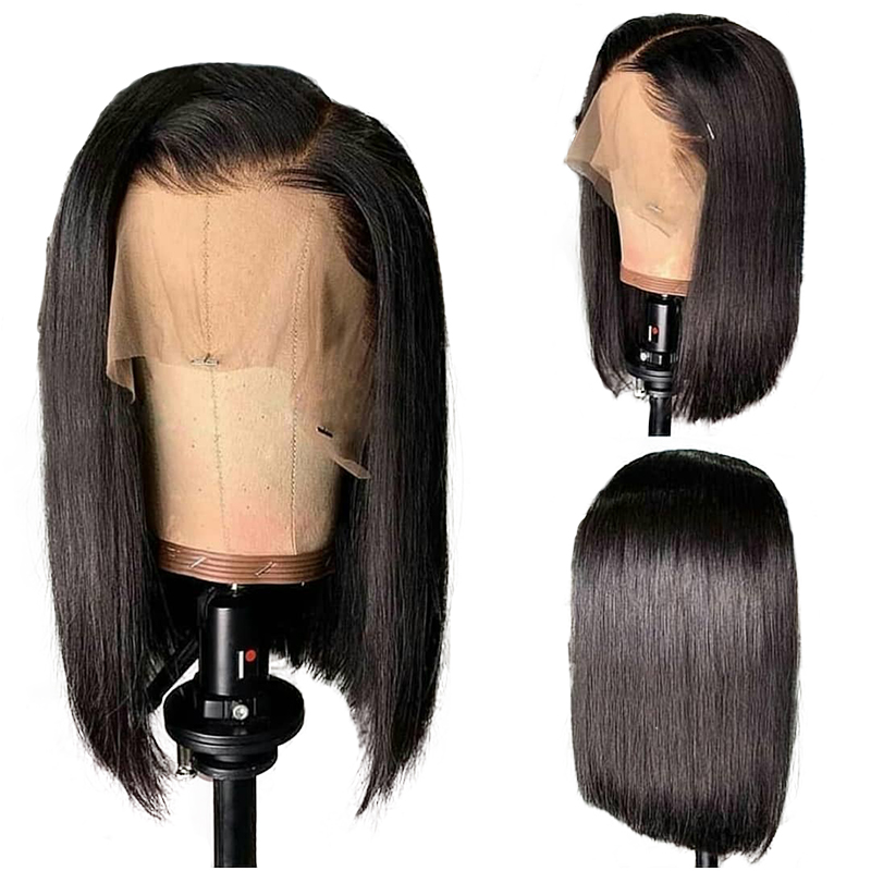 13*6 Short Lace Front Human Hair Wigs Lace Frontal Wig Brazilian Remy Hair Bob Wig For Black Women 1b/99J 1b/30 1b/4 Hot Beauty