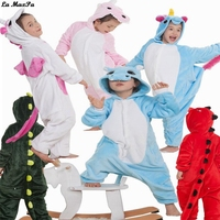 Children Boys Girls Unisex Kigurumi Unicorn Onesie Animal Pajamas Halloween Costumes Kids Xmas Gift Pyjamas Sleepwear
