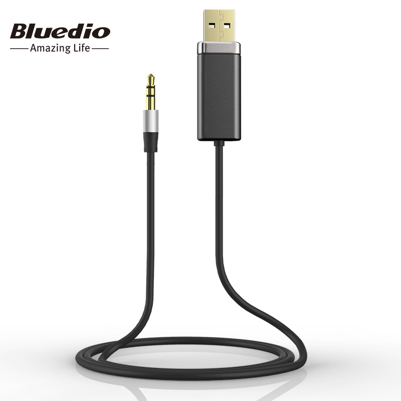 Bluedio BL Bluetooth Adapter with Metal 3.5mm Audio Stereo Cable orginal cables for music phone speakers headphones