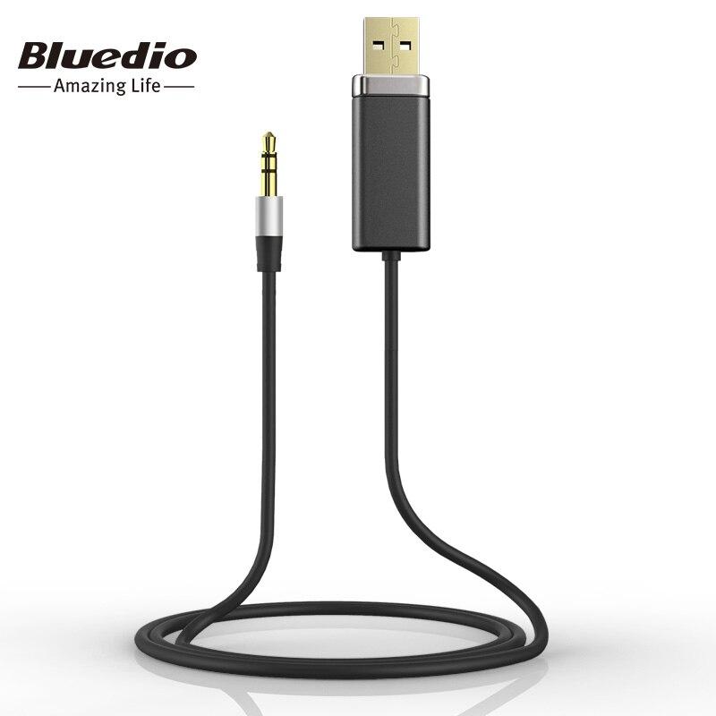 Bluedio BL adaptador Bluetooth con Metal 3,5mm Audio estéreo Cable original cables para música altavoces auriculares