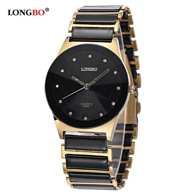 2bf557d0173 LONGBO Brand Men Women Brief Casual Unique Quartz Wrist Watches Luxury  Brand Quartz Watch Relogio Feminino Montre Femme 8490