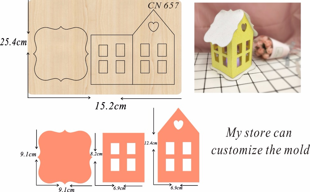 Lantern party decoration 4 new wooden mould cutting dies for scrapbooking Thickness 15 8mm