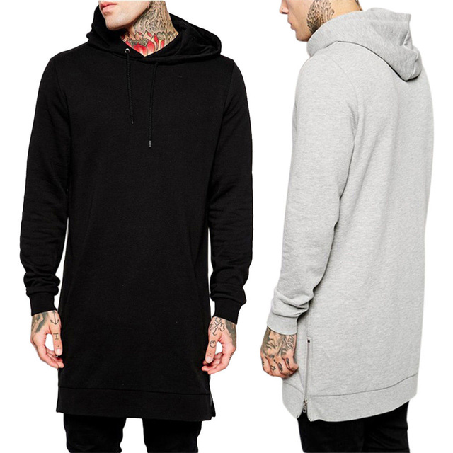 Giraffita Men Hooded Sweatshirts Black Hip Hop Mantle Hoodies Fashion Jacket Long Sleeves Man's Coats Outwear Streetwear
