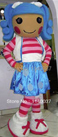 mascot girl Mascot Costume Adult Size Christmas Halloween Party Fancy Dress Lalaloopsy Mascotte Outfit Suit