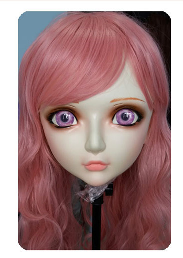 (DM036) Women/Girl Sweet Resin Half Head Kigurumi BJD Mask <font><b>Cosplay</b></font> Japanese <font><b>Anime</b></font> Lifelike Lolita Mask Crossdressing <font><b>Sex</b></font> <font><b>Doll</b></font> image