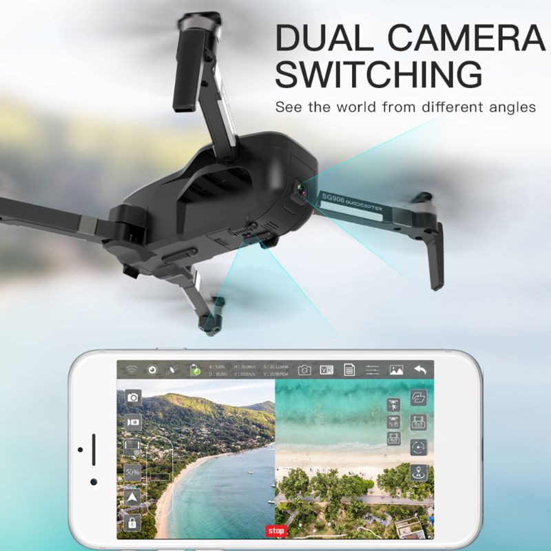 SG906 GPS 5G WIFI FPV With 4K Ultra Clear Camera Brushless Selfie Foldable Optical Flow Positioning Hover RC Drone Quadcopter RT