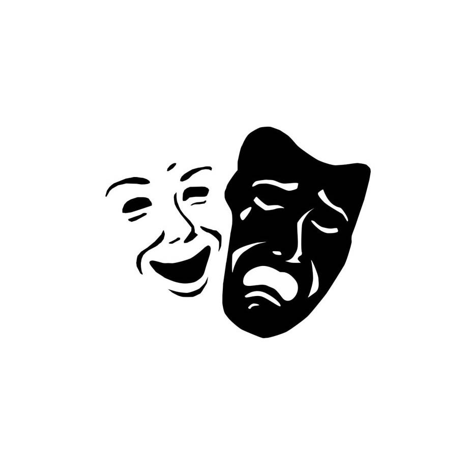 Dctop theater masker senyum dan sedih wajah pola dekorasi dinding stiker dekorasi rumah untuk ruang tamu dinding dekorasi di wall stickers dari rumah