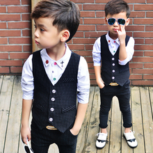 Suit For Boy 2pcs/set(vest+pants) Wedding Kids Boys Blazer Suits Boys Suits For Weddings Baby Suit Gentleman недорого