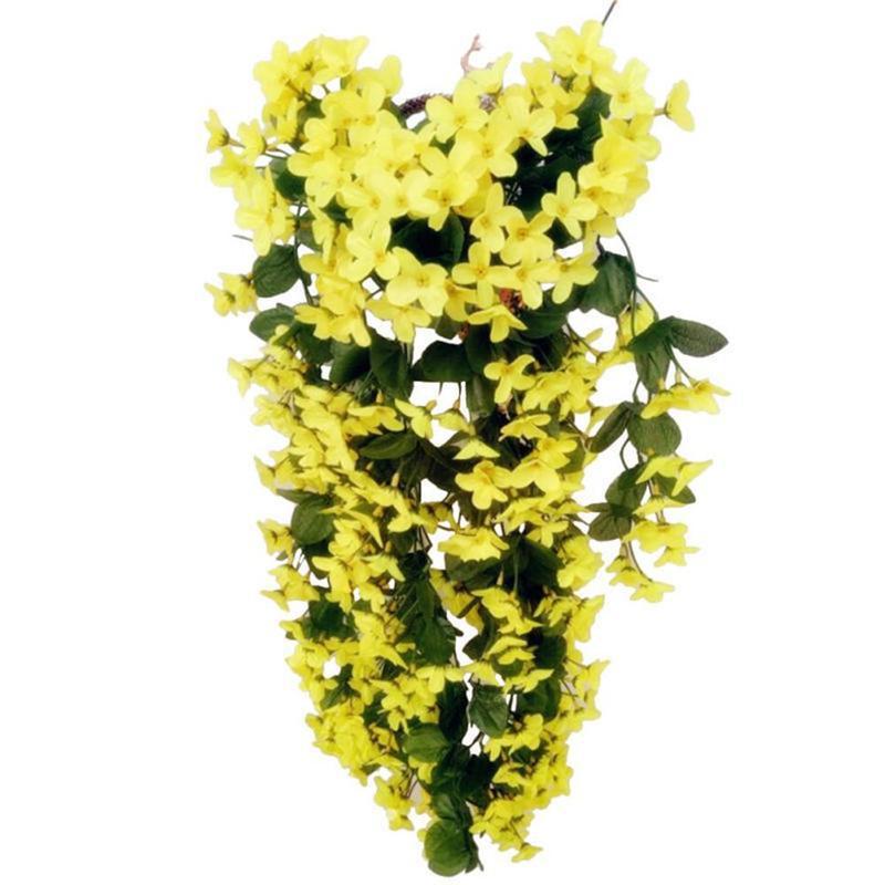 7 цветов на выбор, шелковые искусственные цветы с листьями, шелковые настенные лозы, искусственные фиолетовые цветы для декора балкона VWF2078 - Цвет: 1