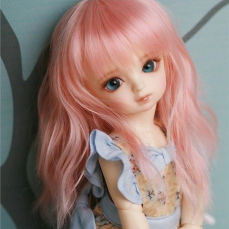 doll accessories 1/6 Bjd wig doll hair wig long straight bangs soft waves curly wavy girl woman doll wig - c16 wholesale good wow perruque girls new extra long straight rapunzel tangled hot pink bangs cosplay hair wigs women for women wig