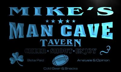 x0105-tm Mikes Man Cave Tounchdown Custom Personalized Name Neon Sign Wholesale Dropshipping On/Off Switch 7 Colors DHL