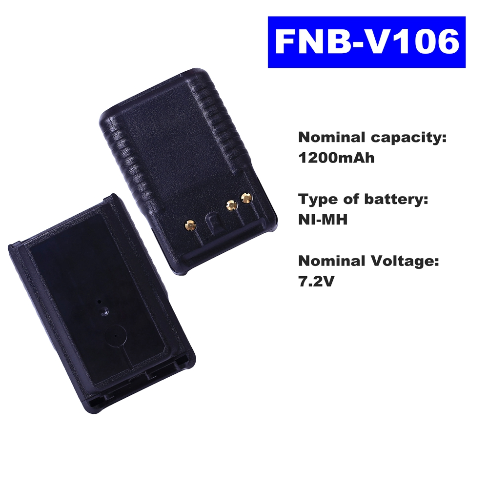 7.2V 1200mAh NI-MH Radio Battery FNB-V106 For Vertex Standard Walkie Talkie VX231/228/230 Two Way Radio
