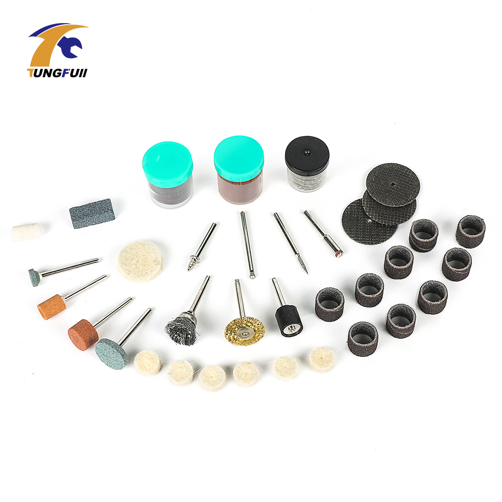 Tungfull 105pcs Dremel Accessories For Rotary Tools 3000 4000 Polishing Grinding Cutting Power Tool Accessories For Mini Drill 1pc white or green polishing paste wax polishing compounds for high lustre finishing on steels hard metals durale quality