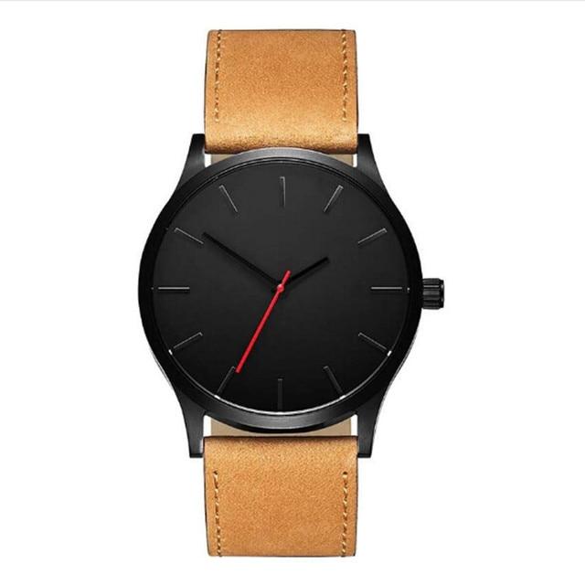 Man Watch Top Brand Luxury Men Watch 2018 Pu Leather Male Watches Quartz Clocks Relogio Masculino Meski Gift Dropshipping