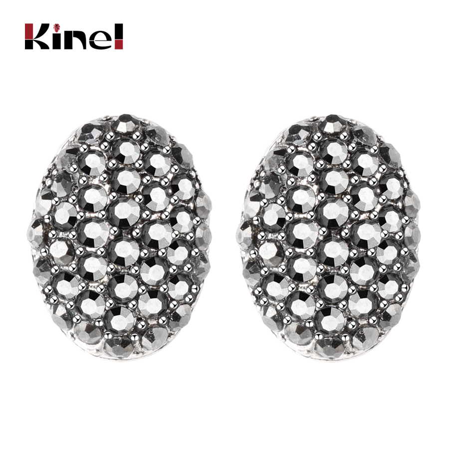stone and earrings stud tone crystal silver white pin black