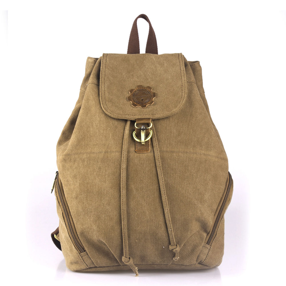 ФОТО Retro Casual Outside Travel Shopping Women Canvas Backpack Mininmalist Design Durable Pouch