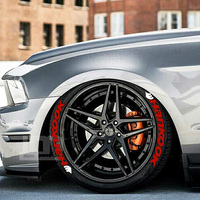 car tuning universal 3D logo tire wheel sticker Auto motorcycle styling custom funny sports decoration stickers decals