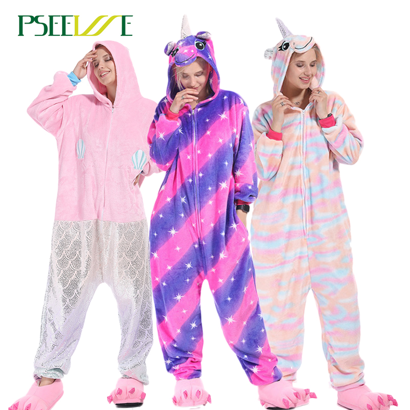 26 styles Women Pegasus Pajamas Sets Flannel Cute Animal Pajamas Women Winter unicorn Nightie Pyjamas Sleepwear Homewear(China)