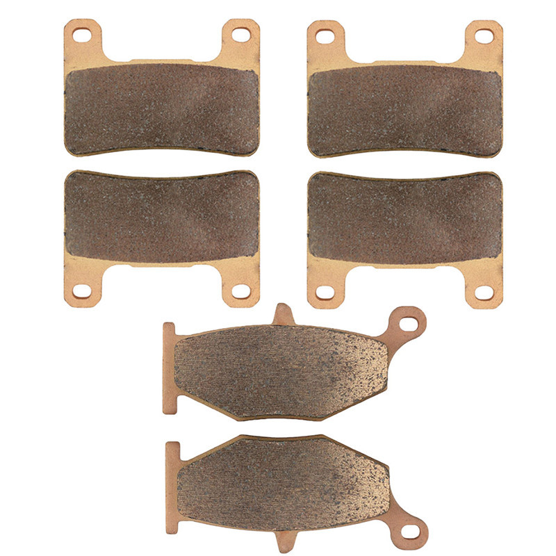 Motorcycle Parts Front & Rear Brake Pads Kit For SUZUKI GSXR 1000 GSXR1000 GSX-R 1000 GSX-R1000 K7 2007-08 Copper Based Sintered aftermarket free shipping motorcycle parts blade style rear foot peg for 1999 2007 suzuki gsx 1300r r hayabusa gsx r chrome
