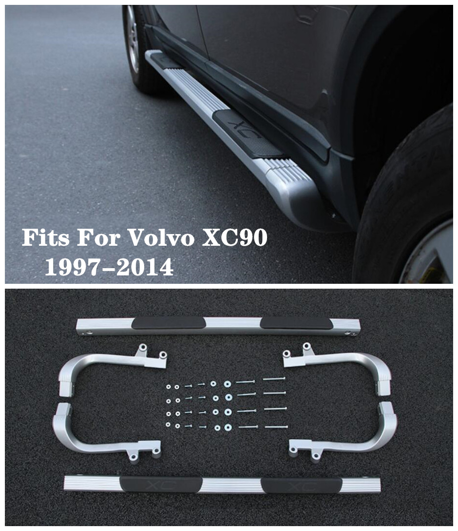 Pédales latérales de haute qualité de marchepied de voiture d'alliage d'aluminium convient pour Volvo XC90 1997-2014
