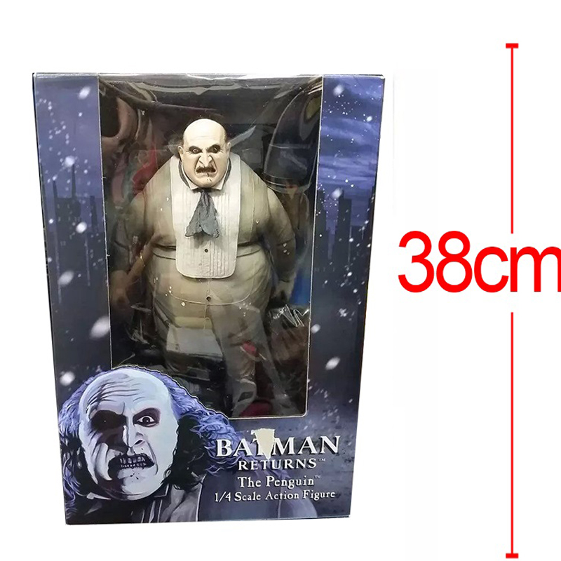 Anime DC Collectible <font><b>Batman</b></font> <font><b>Returns</b></font> The <font><b>Penguin</b></font> Oswald Cobblepot PVC <font><b>Action</b></font> <font><b>Figure</b></font> 1/4 Scale Model Doll Classic Toy Brinquedos