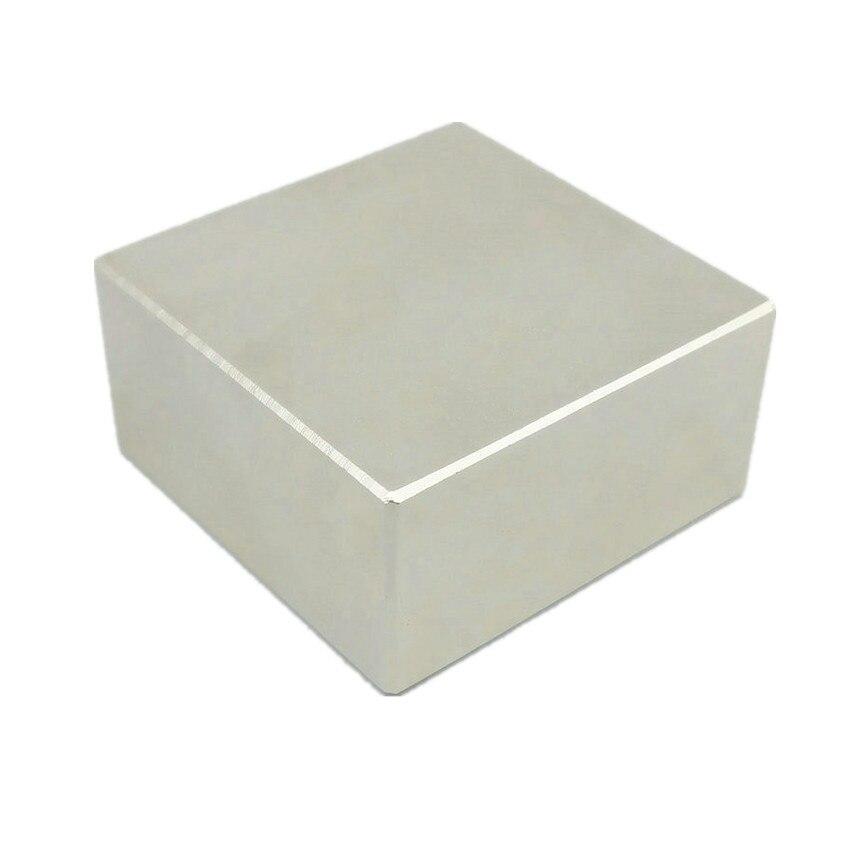 N52 forte aimant bloc 50x50x25 49x49x24 46x46x22mm NdFeB compteur d'eau filtre puissant néodyme tenant levage magnétics
