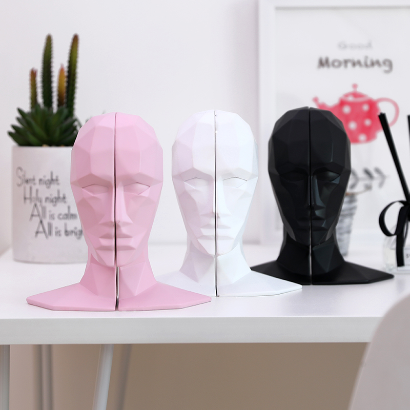 Split Human Head Bookends Resin Book Ends Home Office Table Decor Abstract ArtSplit Human Head Bookends Resin Book Ends Home Office Table Decor Abstract Art