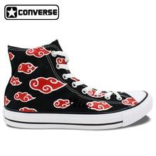 Akatsuki Hand-Painted Converse Sneakers