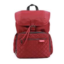 ANNSERRY Solid Mommy'S Backpack Hands Pull Design Crimson Dark Blue Straps Comfort No Shoulder Injury Mommy'S Backpack