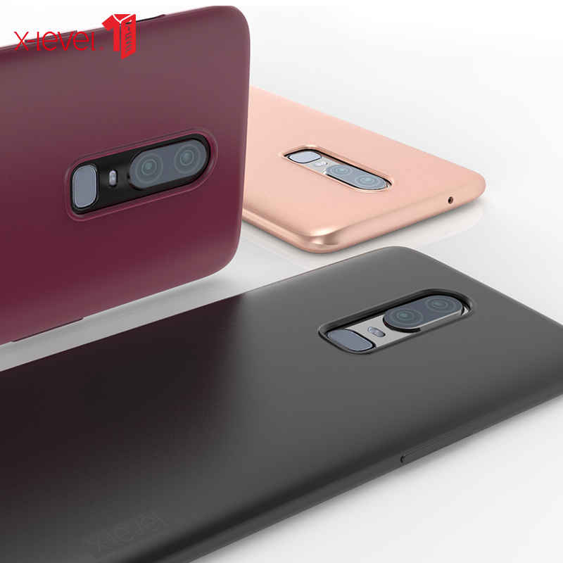 X-Level Luxury fitted Oneplus 6 Case For One plus 6 Case Ultra Thin Matte Cover for Oneplus6 Coque Anti-knock Protection